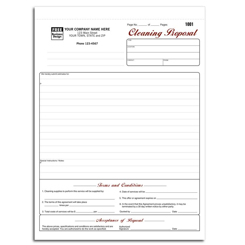 Cleaning and Janitorial Invoice Forms DesignsnPrint - cleaning contract agreement