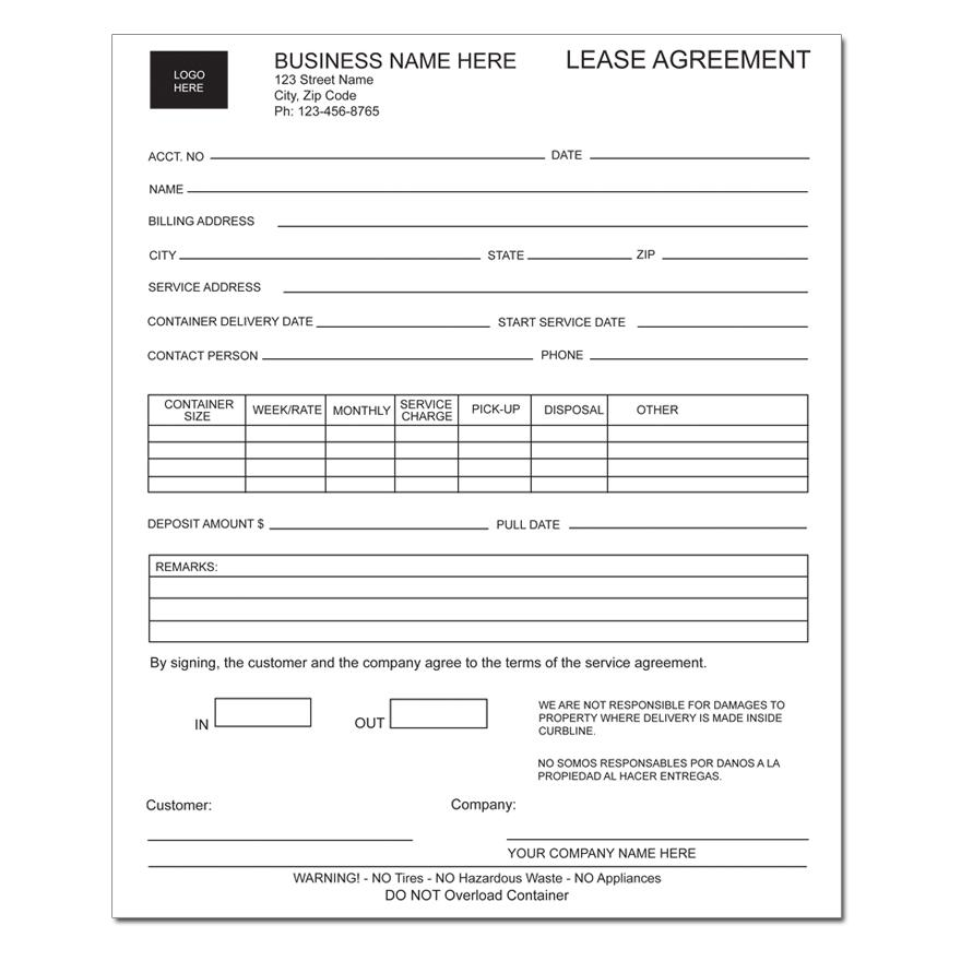 Sample Equipment Lease Agreement Template Equipment Lease - equipment lease agreement template