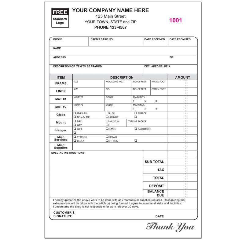 Photography Invoice Form - Custom Printing DesignsnPrint