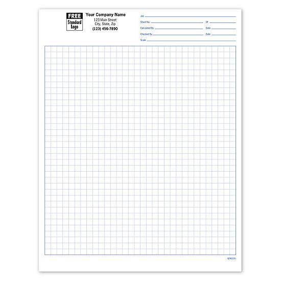 Graph Paper Padded - Custom Printed Graph Pads DesignsnPrint - standard graphing paper