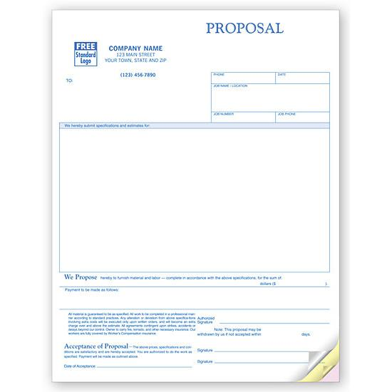 Laser Proposal Form With Large Blank Area DesignsnPrint