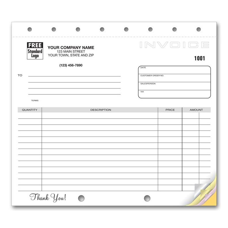 Invoice Form with Carbon Copy DesignsnPrint