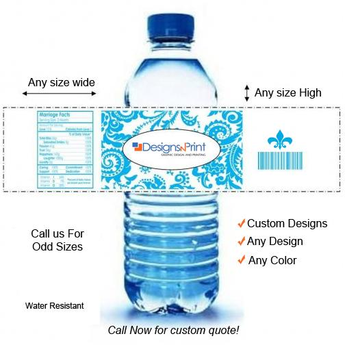 Custom Water Bottle Labels - Personalized DesignsnPrint