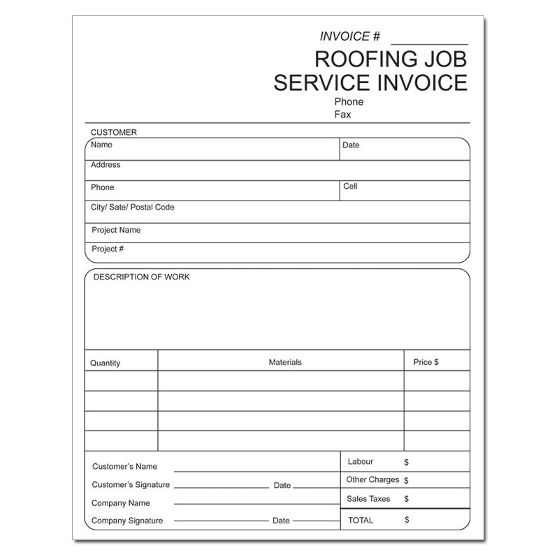 Roofing Invoice Invoice For Roofing Contractors DesignsnPrint