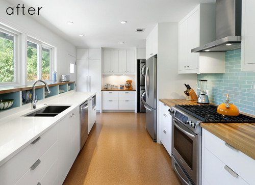 before and after modern galley kitchen u2013 Design*Sponge - galley kitchen design