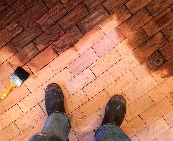 Before After Cartolinas End Grain Block Flooring