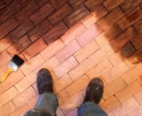 Before & After: Cartolinas End Grain Block Flooring ...