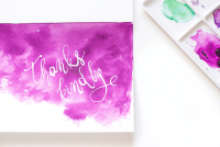 DIY Watercolor Thank You Cards | Design*Sponge | Bloglovin