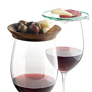 tapa plate for wine glass