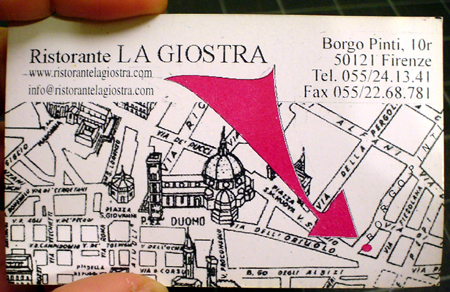 la giostra florence business card