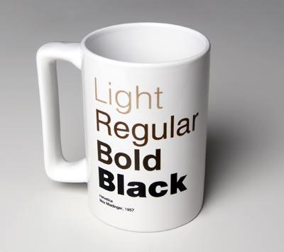 helvetica coffee cup mug veer