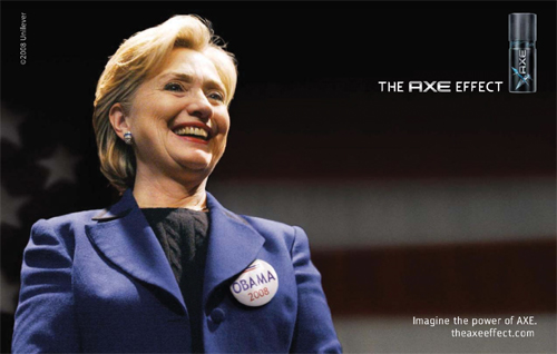 hilary clinton endorses barack obama axe effect