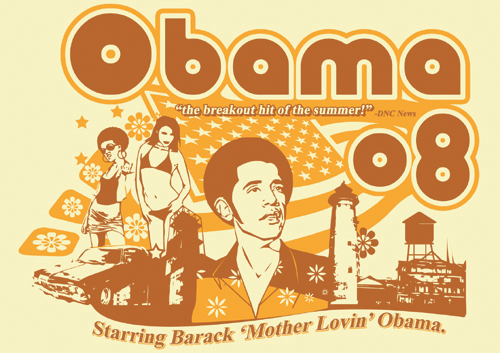 barak obama is the man badass shirt 2008