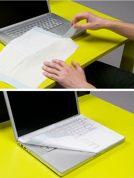 keyboard napkin