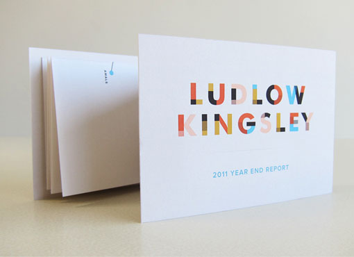 Ludlow Kingsley LK Year End Report Design Work Life - report card