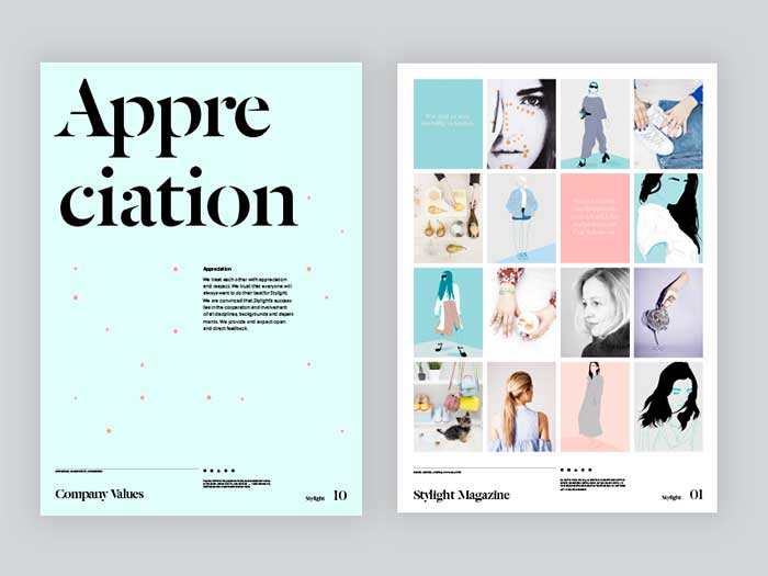 Layout Design for A Magazine Page and Printing Tips