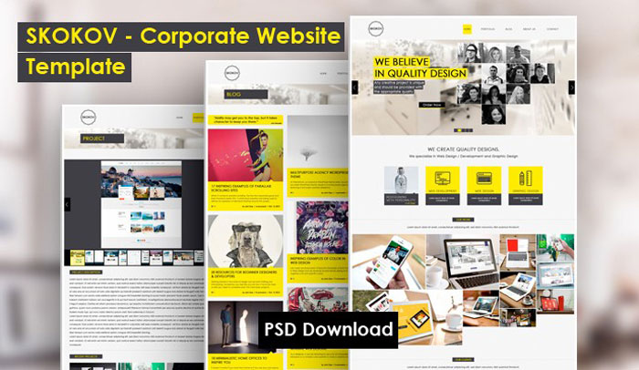 Useful PSD Templates To Download And Use - free profile templates