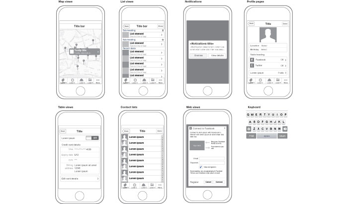 Selected Wireframes Templates That Are Free - wireframe templates