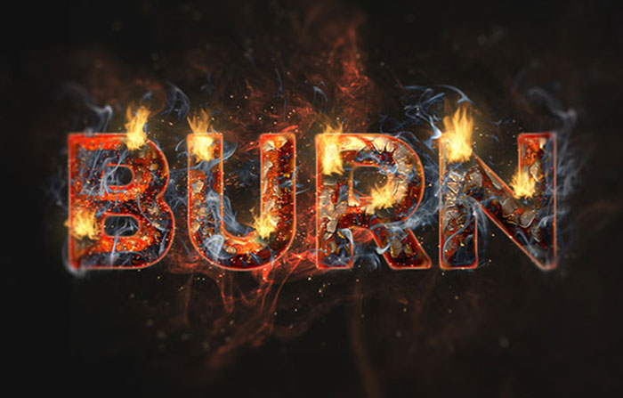 create-a-fire-and-rust-text-effect-using-the-flame-filter-in-adobe-photoshop Tutorial Smoke Effect Name Art