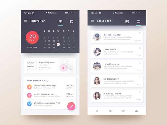 mobile ui design - Selol-ink