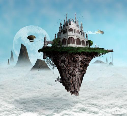 Wallpaper Desktop Girl Falling Fantasy Digital Paintings Of Castles 40 Examples