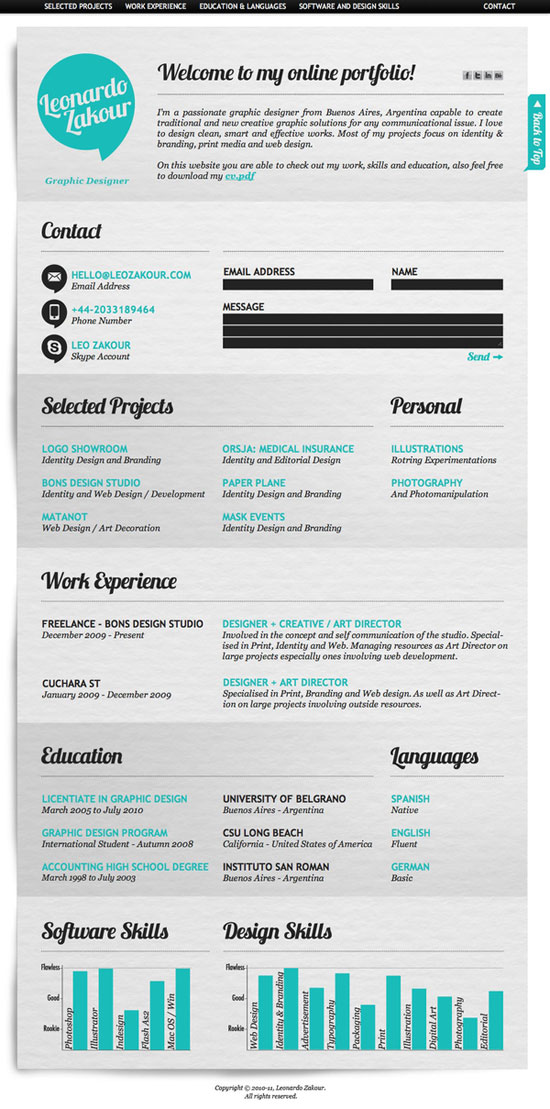 Graphic Design Resume Best Practices and 51 Examples - Graphic Design Resume Example