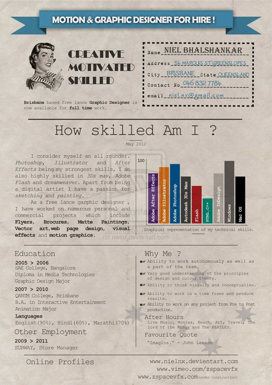 Graphic Design Resume Best Practices and 51 Examples - resume design inspiration