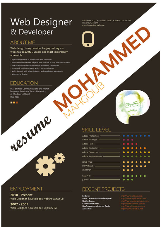 creative resume ideas graphic design - Towerssconstruction