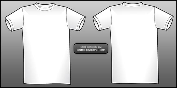 54 Blank T-Shirt Template Examples To Download (Vector and Raster) - t shirt template