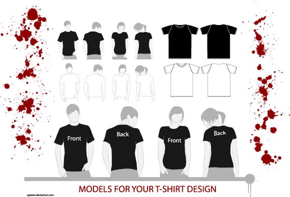 The Best 82 FREE T-Shirt Template Options For Photoshop And Illustrator