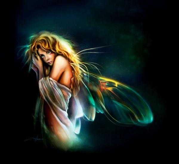 Beautiful Butterfly Girl Wallpaper Magical Collection Of Fairy Digital Paintings