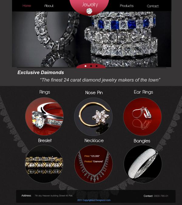 Download a Jeweler\u0027s Website PSD Template