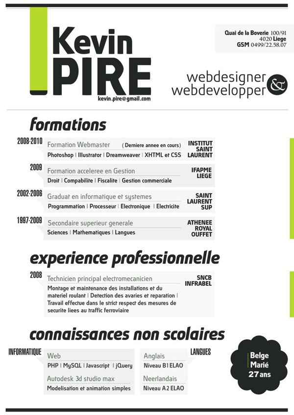 cv web digital gratuit