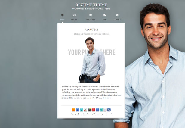 Wordpress Resume Themes - Fiveoutsiders - resume wordpress theme