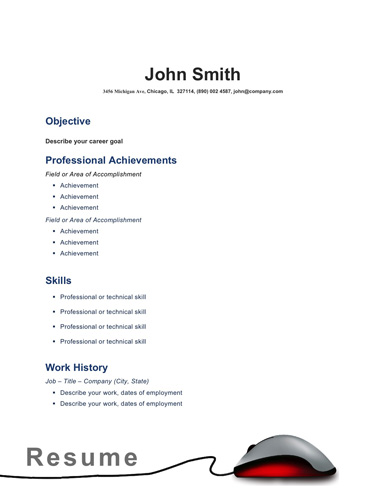 50 Free Microsoft Word Resume Templates for Download - simple resume templates word
