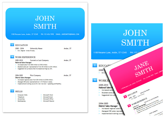 50 Free Microsoft Word Resume Templates for Download - Ms Word Cover Page Templates Free Download