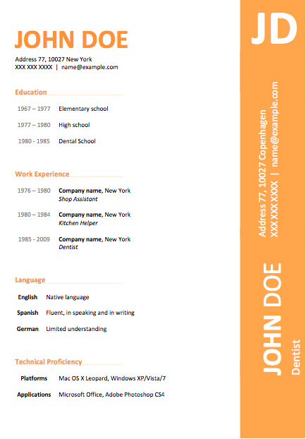 Resume Examples Word. Download Free Resume Templates For Word