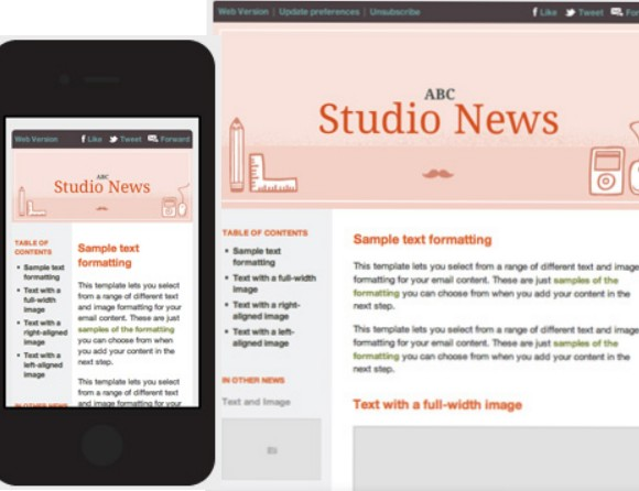 70 Best HTML Email Newsletter Templates - free responsive email template