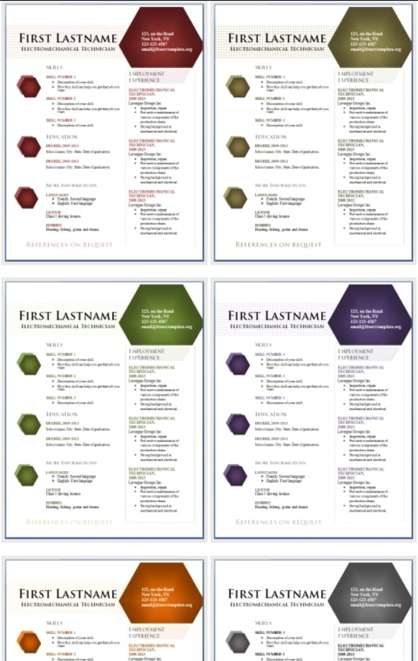 50 Free Microsoft Word Resume Templates for Download - Free Word Resume