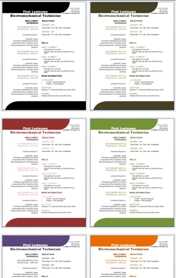 50 Free Microsoft Word Resume Templates for Download - Resume Ms Word Format