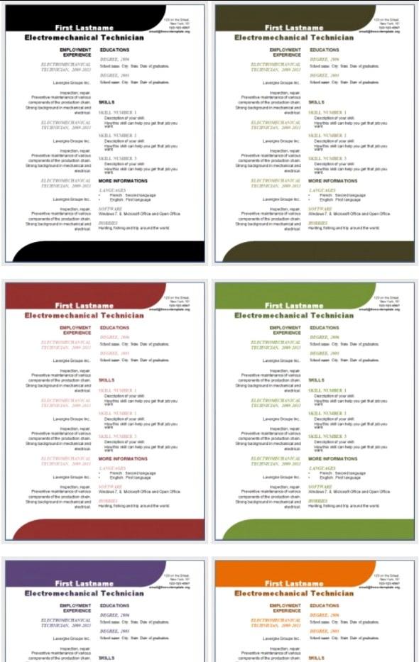 resume templates microsoft word 2013