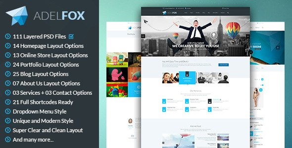 40+ Awesome PSD Templates for Websites