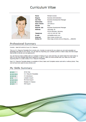 Curriculum Vitae Samples Normal 18 Professional Cv Templates And Examples Hloom 50 Free Microsoft Word Resume Templates For Download
