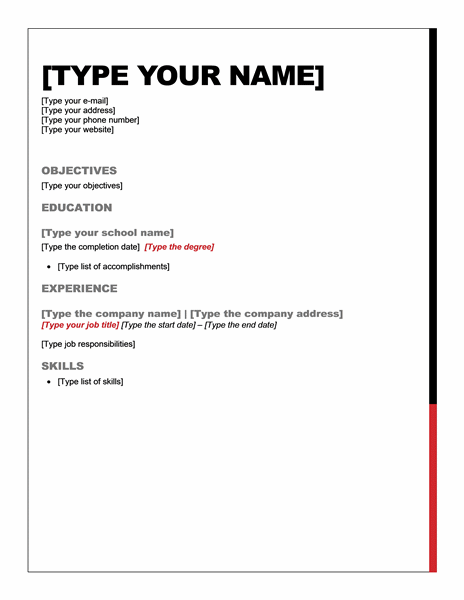 examples of a easy resume 73 simple resume templates o hloom 50 free microsoft word resume