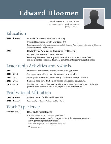 89 Best yet Free Resume Templates for Word - Ms Word Resume Templates