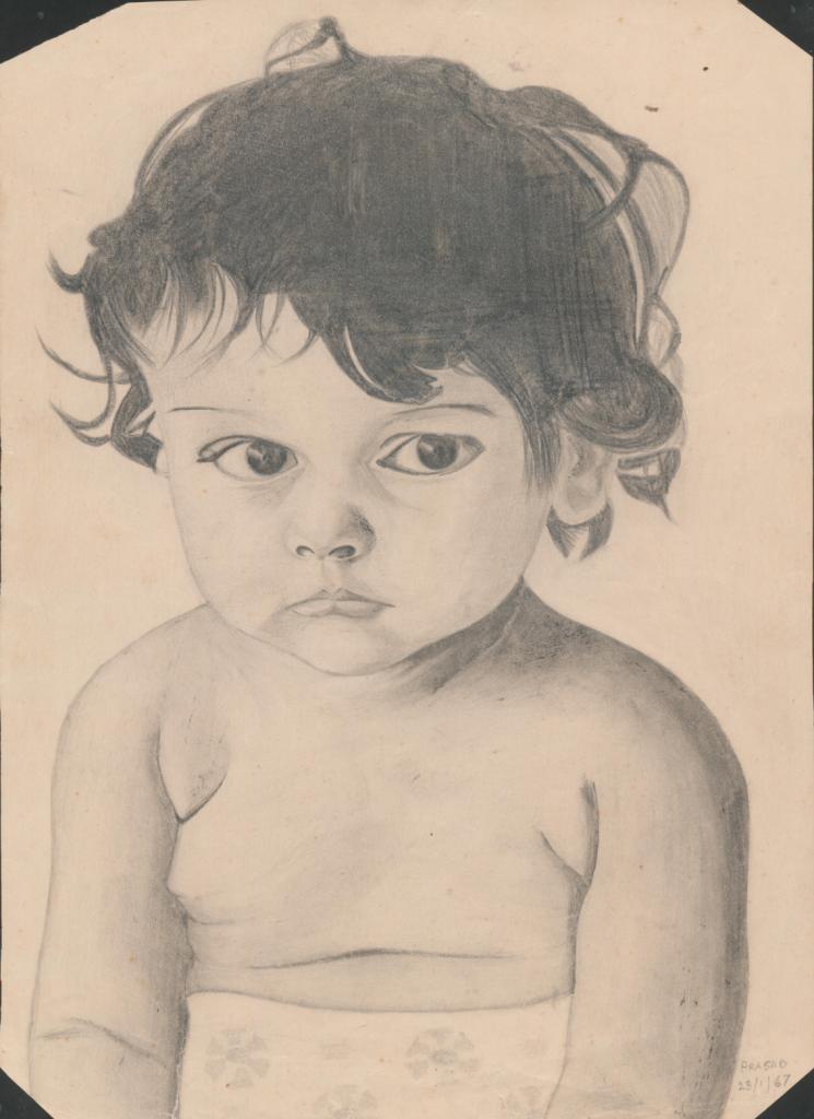 Cute Baby Sketch DesiPainters