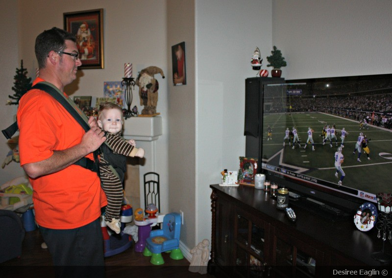 football, babysitting, silly, dads, dads watching kids, babies, tv