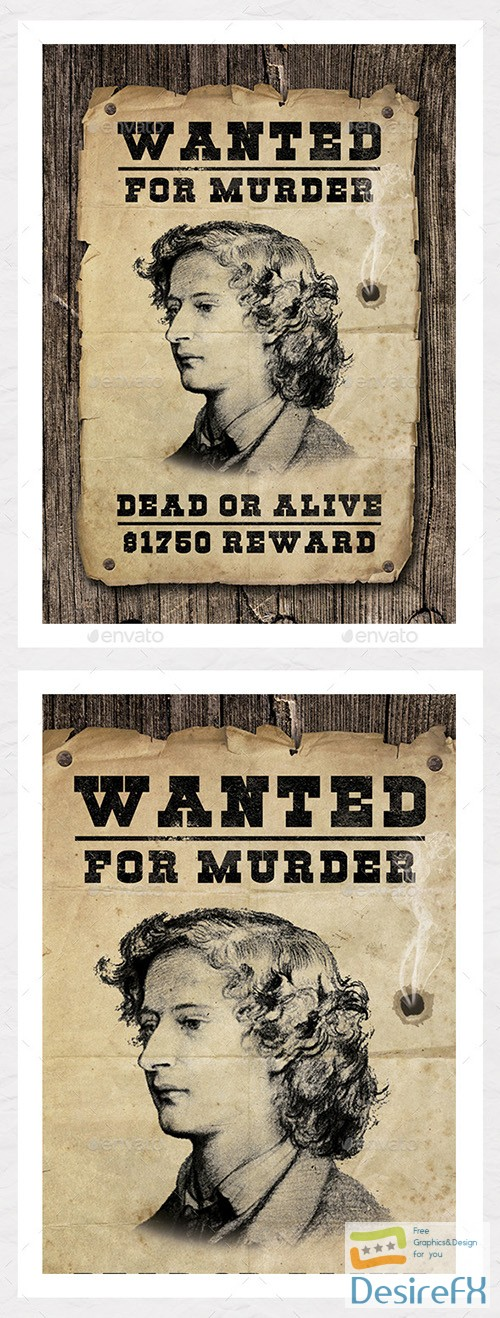 Desirefx Download Free GR \u2013 Wanted Poster Graphic \u2013 Create
