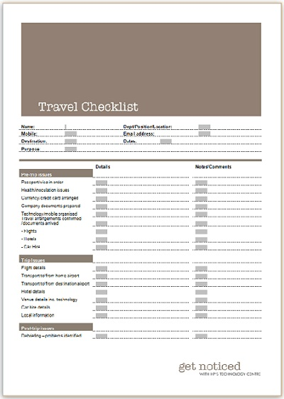 Checklist For Lake Vacation | Free General Cover Letter Template