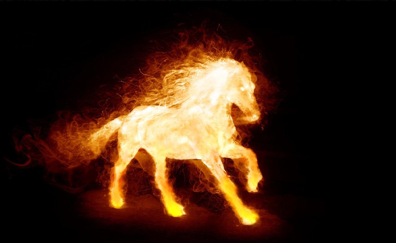 Download Fire Horse Animated Wallpaper Desktopanimatedcom